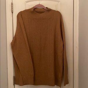 Old Navy Cognac Mock Neck Sweater